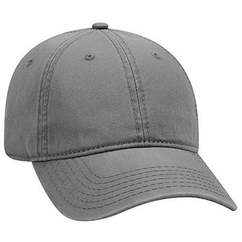 - OTTO 6 Panel Low Profile Garment Washed Superior Cotton Twill - Char. Gray