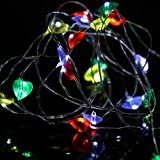 2 M 10 LED Star Light Cozy String Fairy Lights For Bedroom Xmas Wedding Party, Shop Window, Club, Concert, Singing Hall, Fashion Show,Tuscom (2M/20 LED/Multicolor) Review