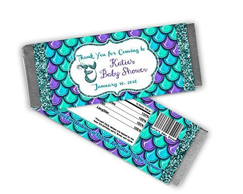 Amazon.com: Mermaid Baby Shower Candy Wrapper Party Favor: Handmade