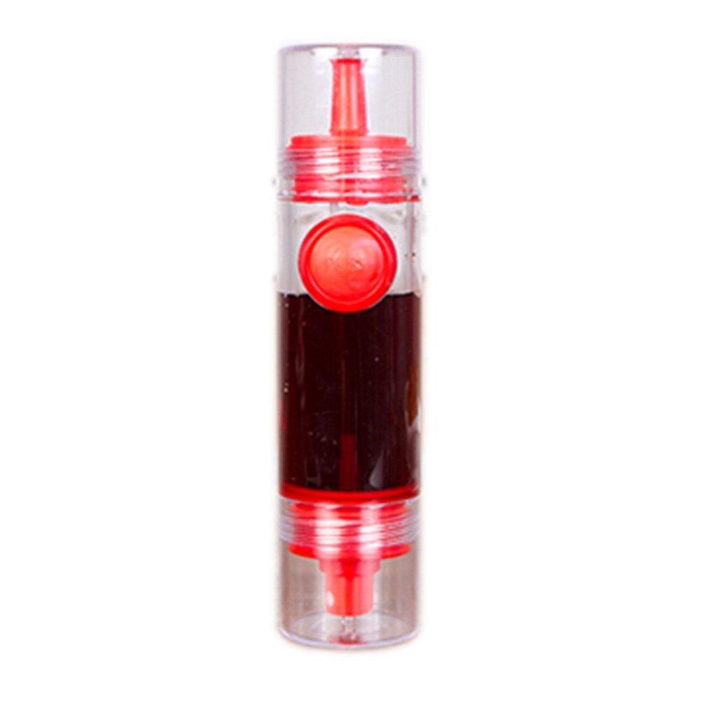 Dispensador de aceite de cocina, 2 en 1, con pulverizador y botón (rojo) Xiton
