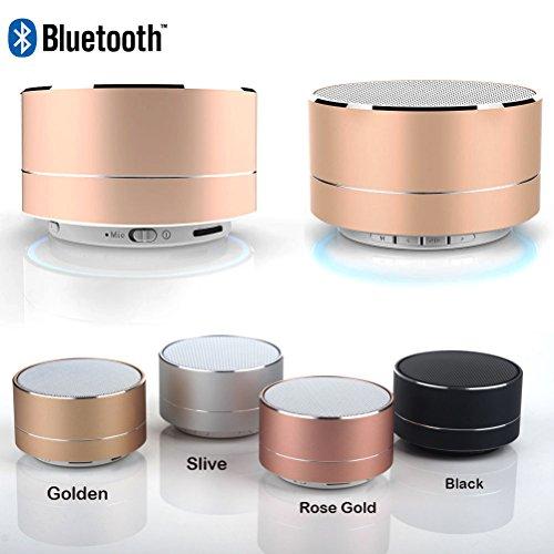 Quner Mini Altavoz Bluetooth Portátil HD Sonido Estéreo al Aire última intervensión Altavoz para iPhone iPad PC Celular,...