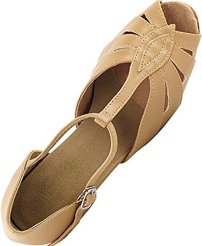 Women's Ballroom Dance Shoes Tango Wedding Salsa Dance Shoes Beige Brown 2702EB Comfortable - Very Fine 2.5'' Heel 6 M US [Bundle of 5] by Very Fine Dance Shoes (Image #5)