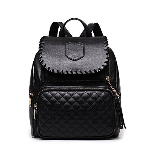 Pure College Ladies Bag Backpack Woman Casual Black Fashion Color PU Style Shoulder 2018 TEAxwnq0