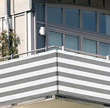 Amazon De 5x0 9m Balkon Sichtschutz Windschutz Atmungsaktiv Modell