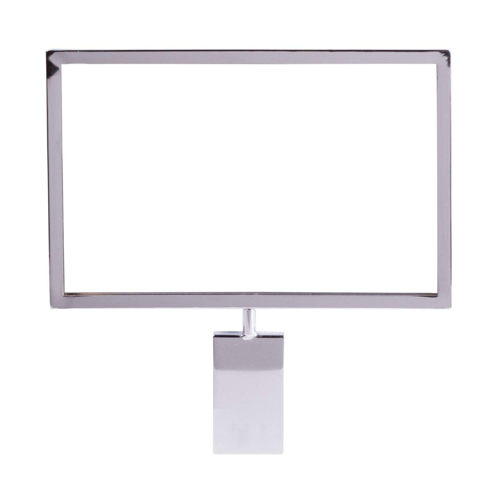 Gridwall Sign Holder, 7'' x 11'' Card Holder for & Grid Panels, Chrome, 10 Pack