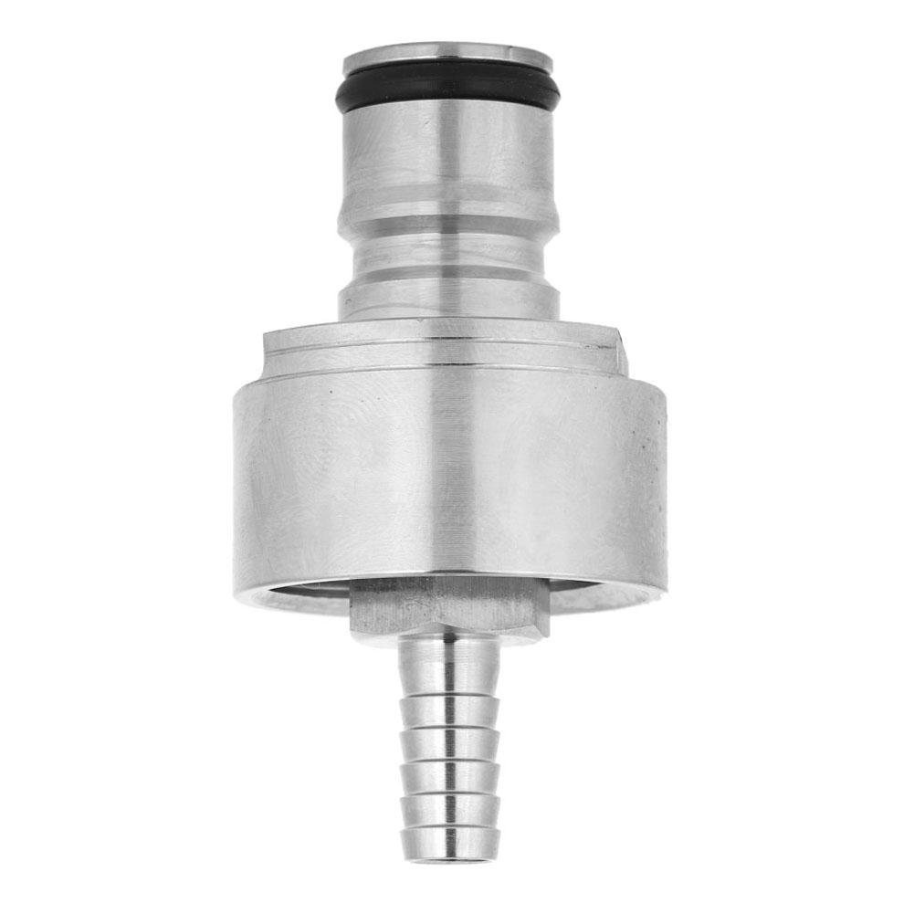 Carbonation Cap with Barb Ball Lock Type Stainless Steel Counter Pressure Bottle Filling CO2 Beer Soda Juice Carbonator