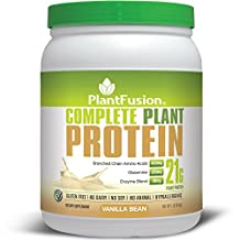 PlantFusion Complete Protein Powder, Vanilla Bean, No Soy or Rice, 15 Servings, 21g Protein, 1lb Tub