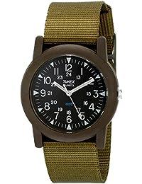 T41711Analog Quartz Camper Green Watch