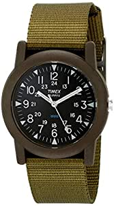 Timex  T41711Analog Quartz Camper  Green Watch