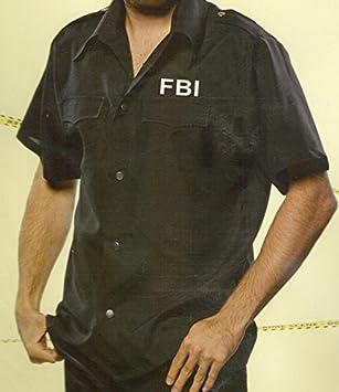 FBI Disfraz Camiseta para hombre para Carnaval & L (52/54): Amazon ...