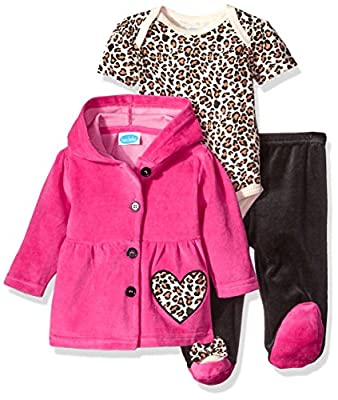 BON BEBE Baby Girls' 3 Piece Set with Velour Jacket Pant and Bodysuit by Bon Bebe Children's Apparel that we recomend personally.