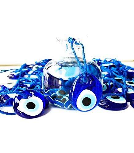 Bion, Evil Eye Beads, Talisman Charm, Small Blue Set of Six - 3.5 cm (1.36