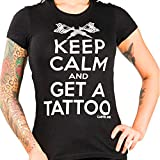 Women's Cartel Ink Keep Calm And Get A Tattoo Tee Black M