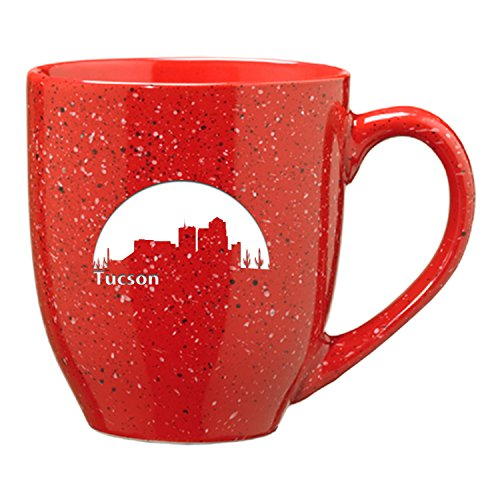 Tucson Coffee Mug - Tucson, Arizona-16 oz. Ceramic Coffee Mug-Red