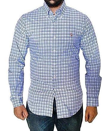 29f622daaf035 Polo Ralph Lauren Men s Cotton Slim Fit Stretch Long Sleeve Button-Down  Check Shirt (
