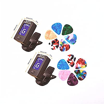 zhoule Guitar clip tuner, 360-degree rotating electronic digital tuner for acoustic and electric guitars, bass, violin mandolin, banjo, high-precision calibration, automatic shutdown. ¡ by Zhuo Le Technology Co., Ltd.