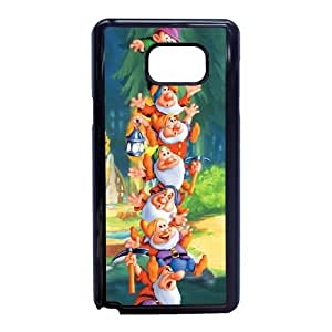 Snow White and Seven Dwarfs For Samsung Galaxy Note 5 Cell Phone Case Black BTRY23623