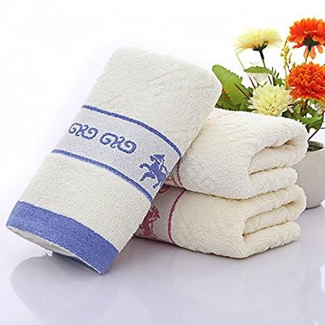mmynl Pure algodón lavado toallas de cara de Home adultos cara Toallitas 75 x 35 cm: Amazon.es: Hogar