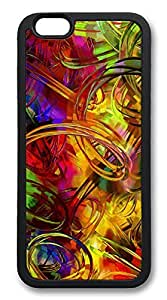 ACESR Circular Painting Nice iPhone 6 Case TPU Back Cover Case for Apple iPhone 6 4.7inch Black