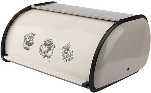 Caja De Almacenamiento De Pan, Caja De Almacenamiento De Pan De Metal Con Tapa Vintage Caja De Cocina De Gran Capacidad para Encimera De Pan Retro
