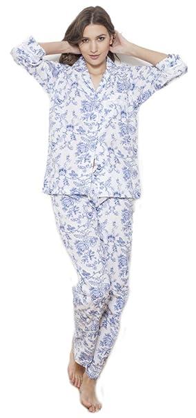 Cotton Real - Pijama - para mujer azul azul XL