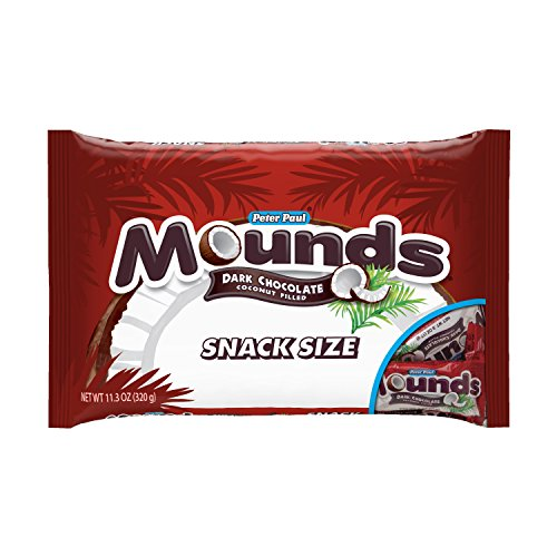 (Mounds Mini Size Dark Chocolate Candy Bars(11.3 Oz Bag) - 12 Bags Case )
