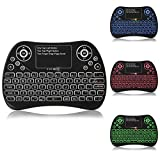 Backlit Mini Keyboard 2.4GHz Mini Wireless Keyboard with Mouse Touchpad and Remote Control for PS3, PC, Xbox 360, Android TV Box, Smart TV