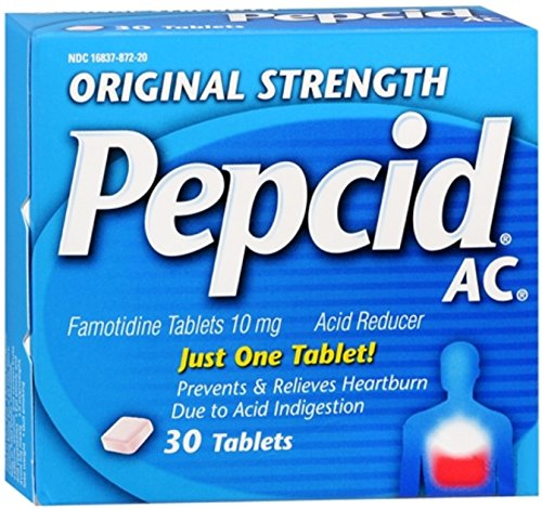 Pepcid AC Original Strength Tablets 30 ea (10 Pack) by Pharmapacks