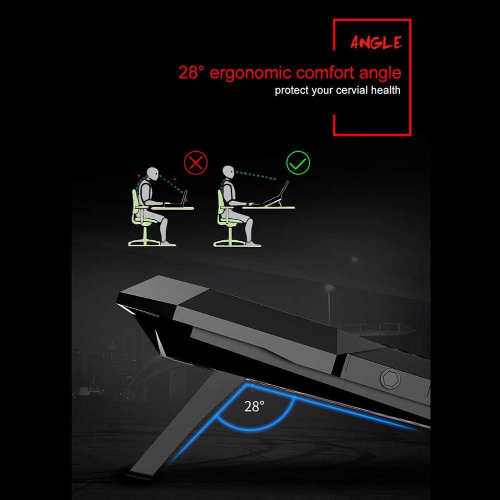 HAJZF Notebook Cooler Two USB Ports High Speed Silent Fan Six Fan Touch Version LED Screen Laptop Cooler