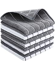 """Microfiber Cleaning Cloth All-Purpose - Absorbent and Lint Free Household Dish Rags – 8 Pack Size 12.6"""" X 12.6"""" – Washing Dishes Fast Drying (8)"""