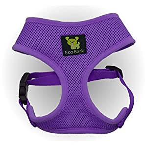 Maximum Comfort Dog Harness 18-27 lbs; Innovative No Pull & No Choke Design, Soft Double Padded Vest for Premium Control, Eco-Friendly Emergency Quick Release For Puppies and Dogs (Large, Purple)