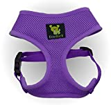 Maximum Comfort Dog Harness 10-17 lbs; Innovative No Pull & No Choke Design, Soft Double Padded Vest for Premium Control, Eco-Friendly Emergency Quick Release For Puppies and Dogs (Medium, Purple)