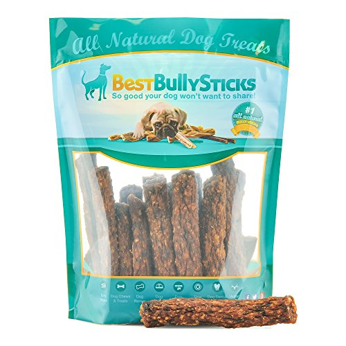 Best Bully Sticks Gourmet Rabbit, Apple, and Kale Superfood Jerky Dog Treats (1lb. Bag)