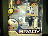 McFarlane Toys NFL Sports Picks Series 27 Action Figure Tom Brady (New England Patriots) White Jersey Bronze Collector Level Chase