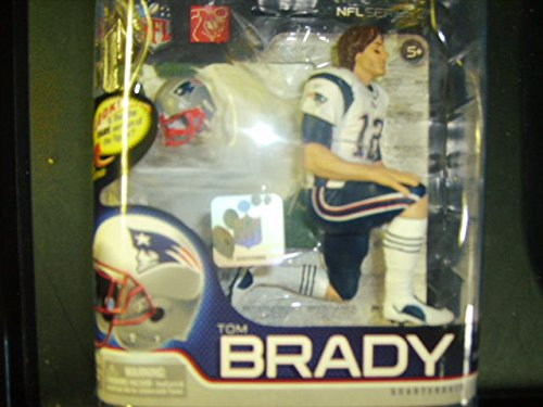 McFarlane Toys NFL Sports Picks Series 27 Action Figure Tom Brady (New England Patriots) White Jersey Bronze Collector Level Chase by McFarlane Toys