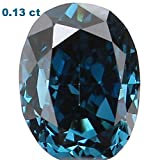 Natural Loose Diamond Oval Blue Color SI2 Clarity 3.40X2.50X1.90MM 0.13 Ct L4480