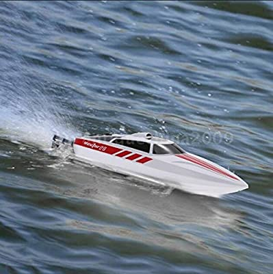 Funtech 2.4GHz High Speed Electric RC Boat Remote Control Boat [White] - Freshwater - Pools Bathtubs Lakes