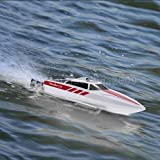 FunTech 20MPH 2.4GHz High Speed Electric Fast RC Boat Remote Control Boat [White] - Freshwater - Pools Bathtubs Lakes