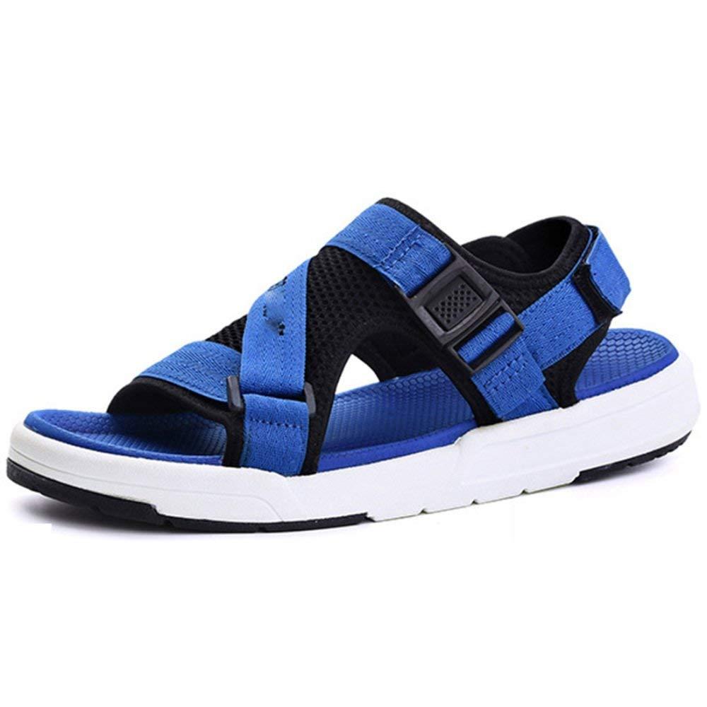 Fuxitoggo Sandali per Uomo Casual Sandali Pantofole alla Moda Comodo e Traspirante (colore   Blu, Dimensione   40EU)
