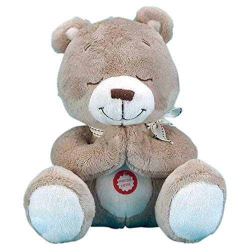 Brown Baby Teddy Bear Soft 8 inch Praying Plush Doll- Now I Lay Me Down ()