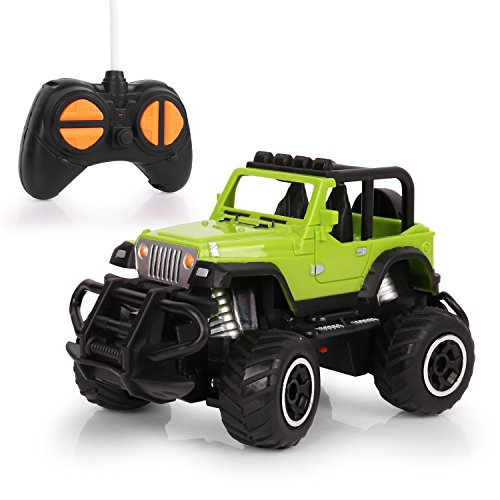 Remote Control Car, HALOFUN Mini RC Cars for Kids, Jeep Vehicle Sport Racing Hobby 1:43 Scale for Boys Girls (Light Green)