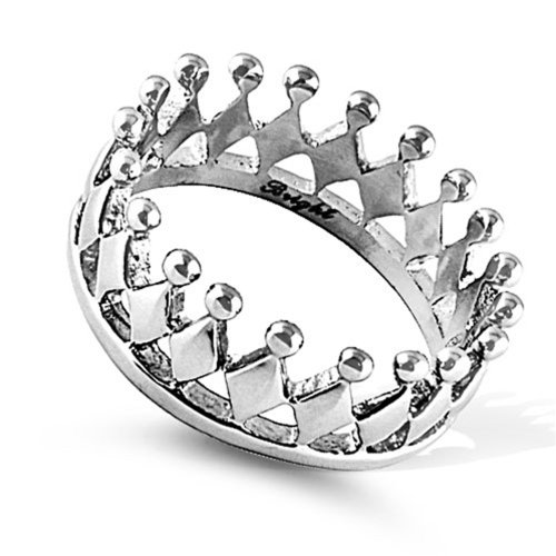 10MM Stainless Steel High Polish Crown Ring (Size 5 to 12), 11