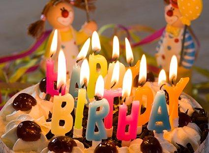 Casablanca Velas para Tartas Happy Birthday Velas de ...