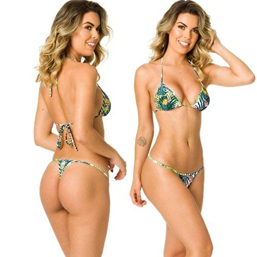 THE MESH KING Coqueta Swimwear Womens Sexy G-String Teeny Mini Brazilian Thong Swimsuits-Hawaii