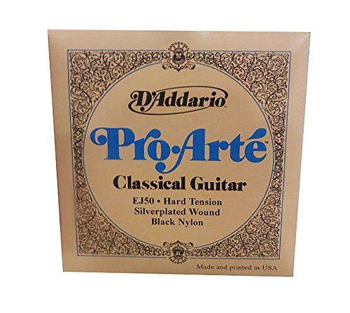 D'Addario EJ50 Pro-Arte Black Nylon Classical Guitar Strings