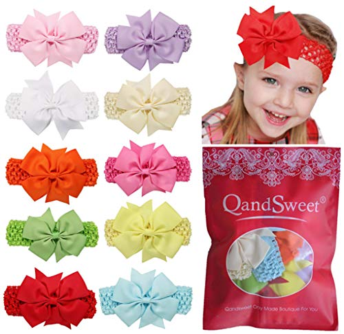 Baby Headband Qandsweet Girls' Fishtail Bows Hairbands