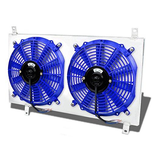 For Honda S2000 MT Aluminum Bolt-on Cooling Radiator Fan Shroud (Blue) - AP1 AP2 S2K