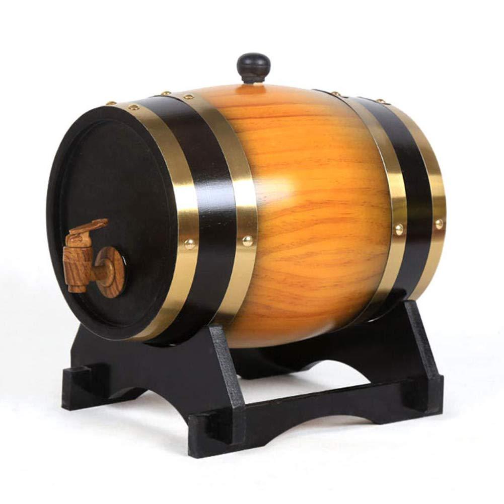 オークの老化ウイスキー樽、収納スピリッツのためのレトロな木製オーク材のワイン樽、ブランデー、ウイスキー,10L 10L  B07MGBFVNM