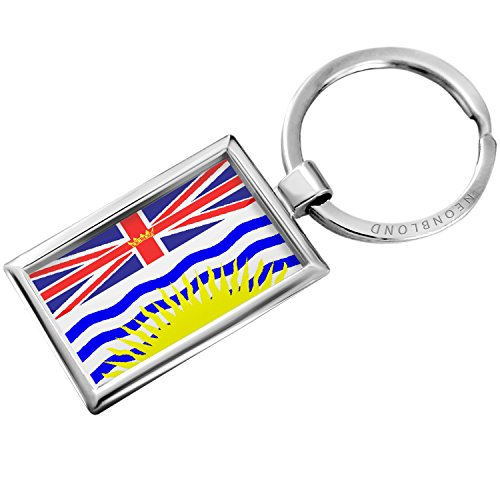 Keychain British Columbia Flag region: Canada - Neonblond