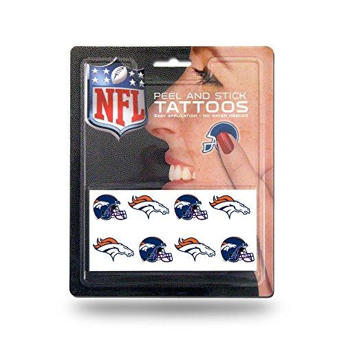 Rico Industries NFL Denver Broncos Face Tattoos, 8-Piece Set -
